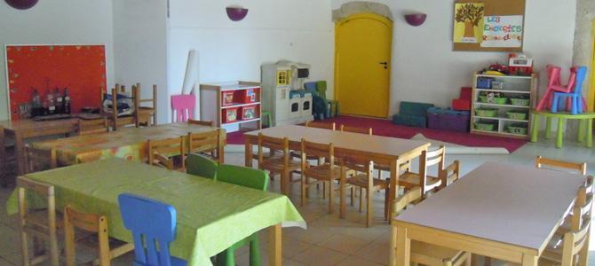 Salle principale du centre maternel de l'Écolothèque