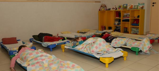 Salle de sieste du centre maternel de l'Écolothèque