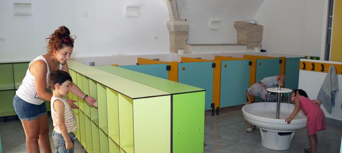 Sanitaires du centre maternel de l'Écolothèque