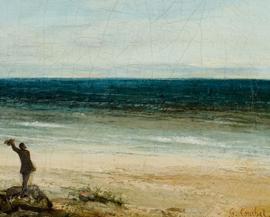 """Tableau """"Le Bord de mer à Palavas"""" - Gustave Courbet"""