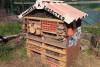 Hotel à insectes du jardin pédagogique d'Estanove