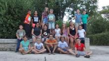 Groupe d'enfants de l'hébergement de l'Accueil de loisirs de l'Écolothèque