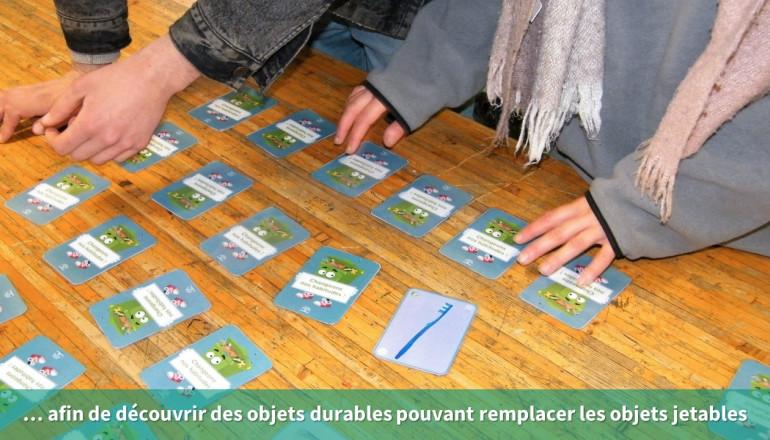 Gros plan sur le jeu de carte du mémory