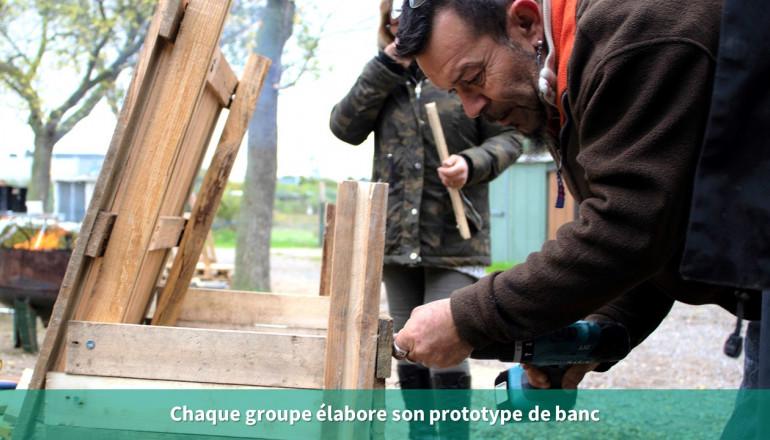 Chaque groupe élabore son prototype de banc