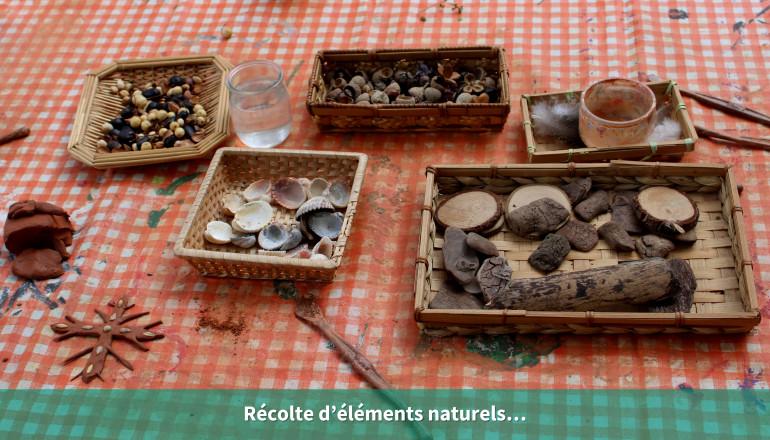 Récolte d'éléments naturels…