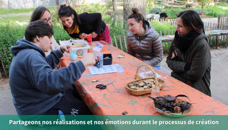 Partageons nos réalisations et nos émotions durant le processus de création