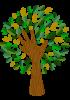 Arbre composé de mains pour représenter le tronc et les feuilles