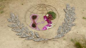 Land'art représentant le logo de l'UNICEF