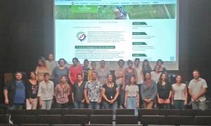 Photo de groupe : Les enseigants qui participent cette année et les représentants de chaque structure