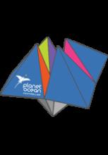 Cocotte en papier avec le logo de Planet Ocean Montpellier