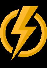 IIlustration d'un éclair traversant un cercle vide pour représenter l'énergie