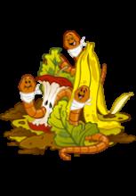 Illustration de vers de compost au milieu de déchets végétaux et de vermicompost