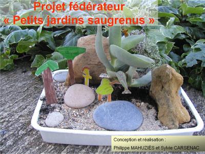 Couverture du support didactique du projet fédérateur Petits Jardins Saugrenus