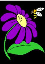 Abeille près d'une fleur