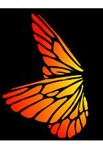 Illustration de papillon orange et jaune