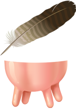 Illustration d'une plume et et d'une mamelle