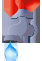 Illustration d'un robinet avec une goutte d'eau